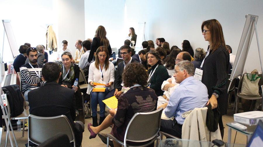 """Grupo de discussão na sessão temática """"Cereais e Leguminosas"""" onde foi apresentado, entre outros o projeto + Arroz"""