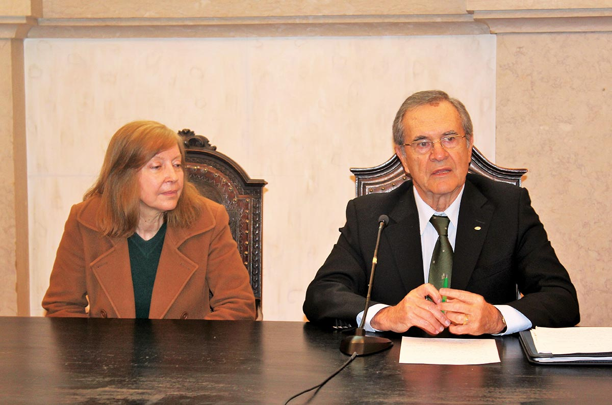 Amarilis de Varennes, Presidente do ISA, e António Sevinate Pinto, administrador da Lusosem, na sessão de abertura