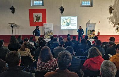 Apresentação do CLOSER na Quinta do Sanguinhal, a 24 de Abril, com produtores de fruteiras