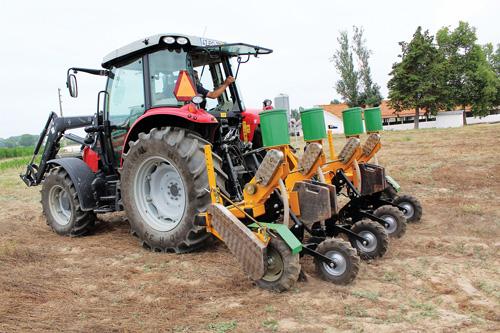 Novo equipamento de sementeira direta, com um sistema inovador de discos duplos