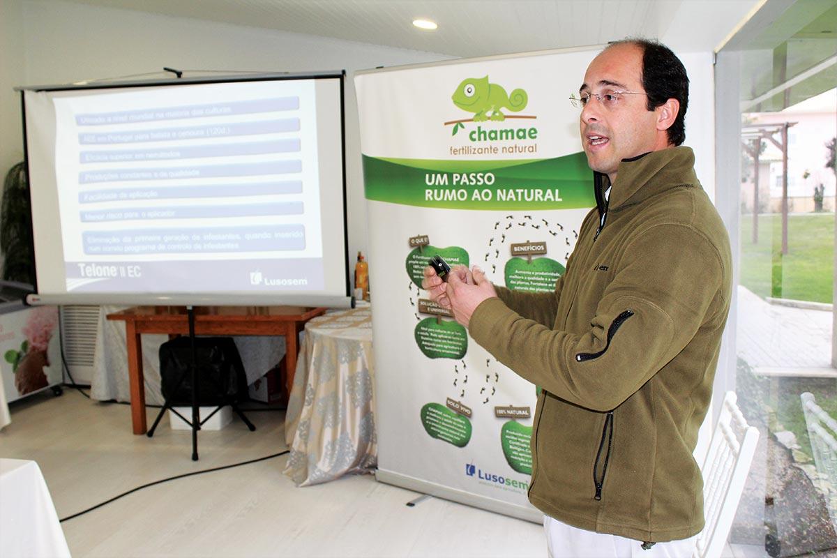 Gonçalo Canha, responsável pelo desenvolvimento dos nematodicidas