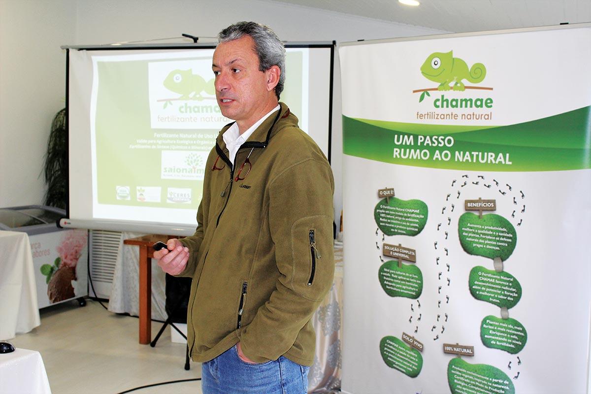 Manuel Laureano, apresentou o Chamae novo fertilizante natural