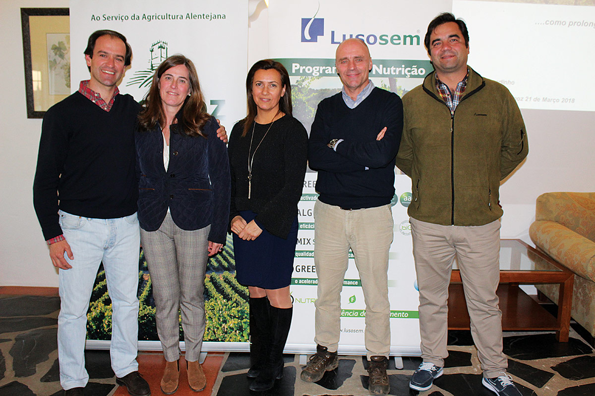 Filipe José - Lusosem | Cristina Ramalho - Fitomoz | Filipa Setas - Lusosem | Nuno Chagadinho - ATEVA | Nelson Matos - Lusosem